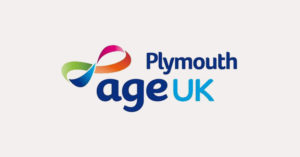 Age UK Plymouth logo on grey background